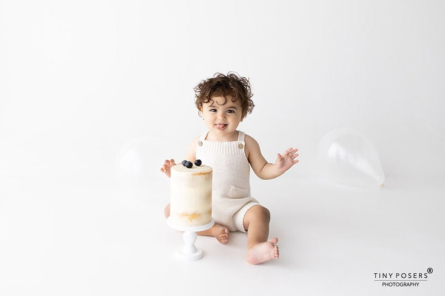 Toddler baby photography props boy cake smash session first birthday europe