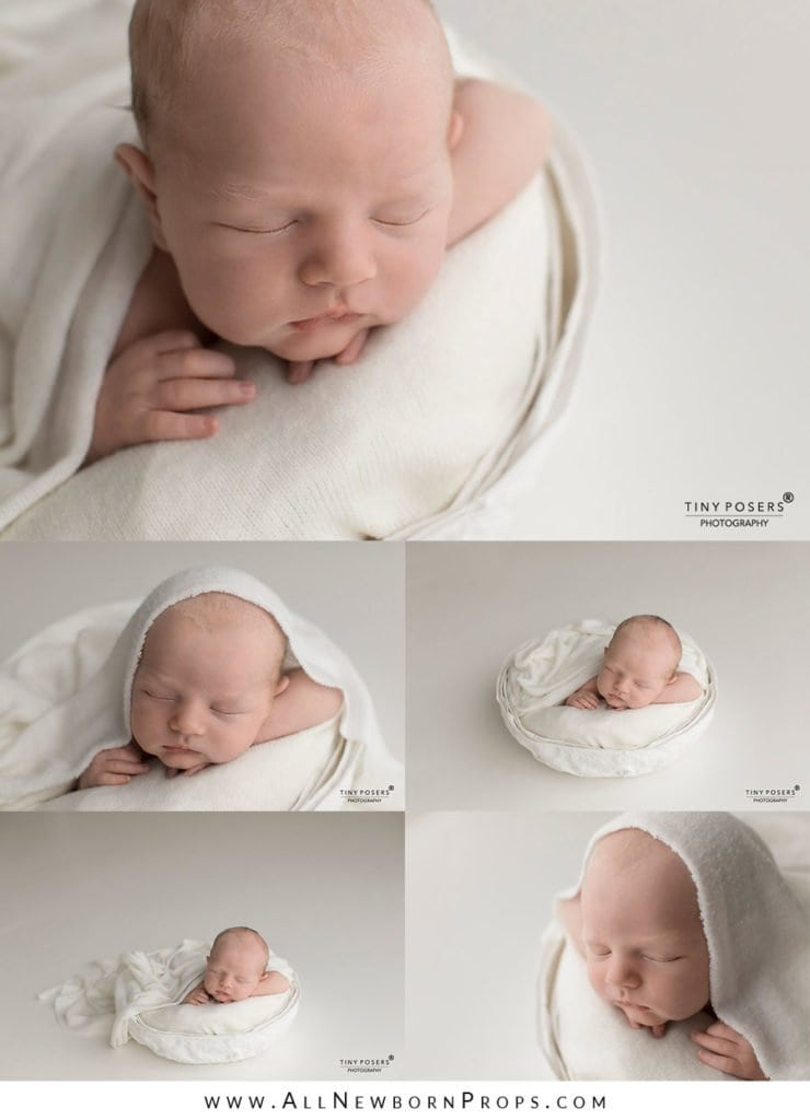 Newborn photography bowl for boy pictures white neutral europe