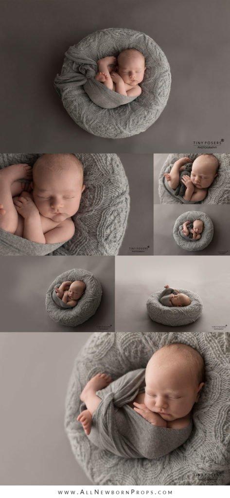 Newborn posers photography props boy grey wrap neutral minimal prop shop eu