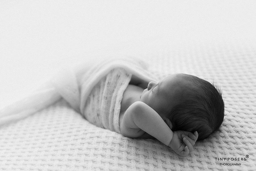 Newborn photography props wraps posing fabric white boy