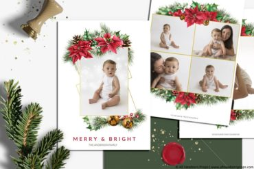 Christmas-Card-Photoshop-Template-Merry-Bright