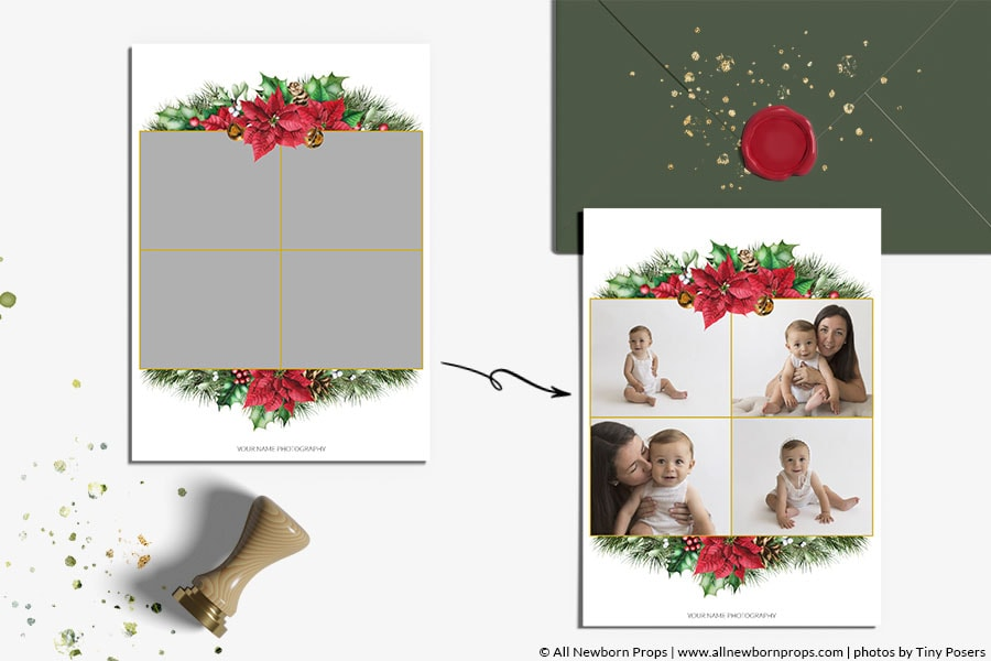 Christmas-Card-Photoshop-Template-Merry-Bright-photo-gallery