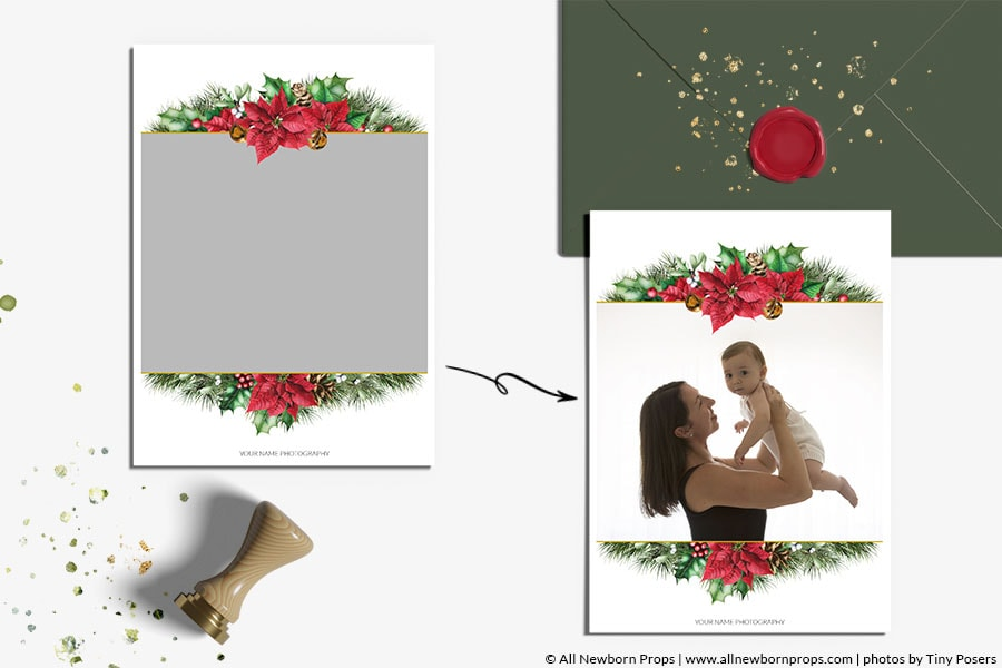 Christmas-Card-Photoshop-Template-Merry-Bright-photographers