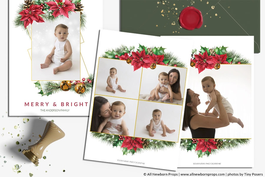 Christmas-Card-Photoshop-Template-Merry-Bright-psd-file