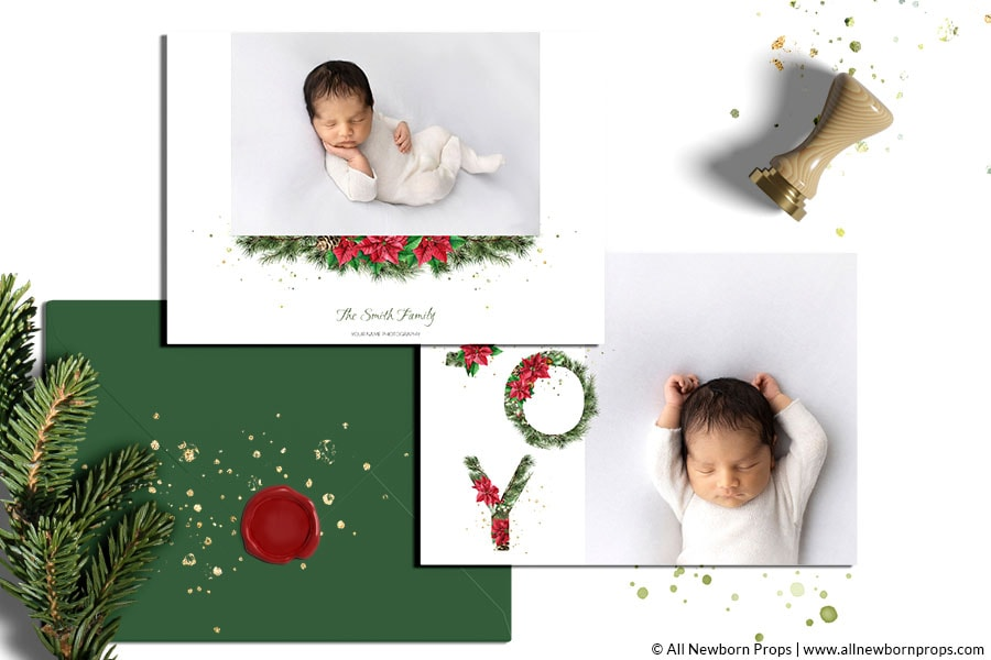 Christmas-Card-Templates-for-Photoshop-watercolor-photo-holiday-template