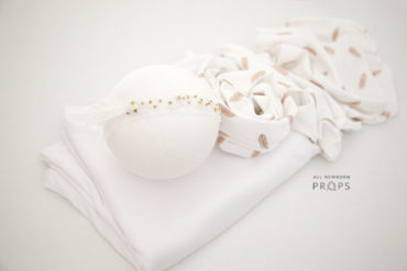 Newborn-Girl-Photography-Prop-set-posing-fabric-wrap-headband-white-europe-uk