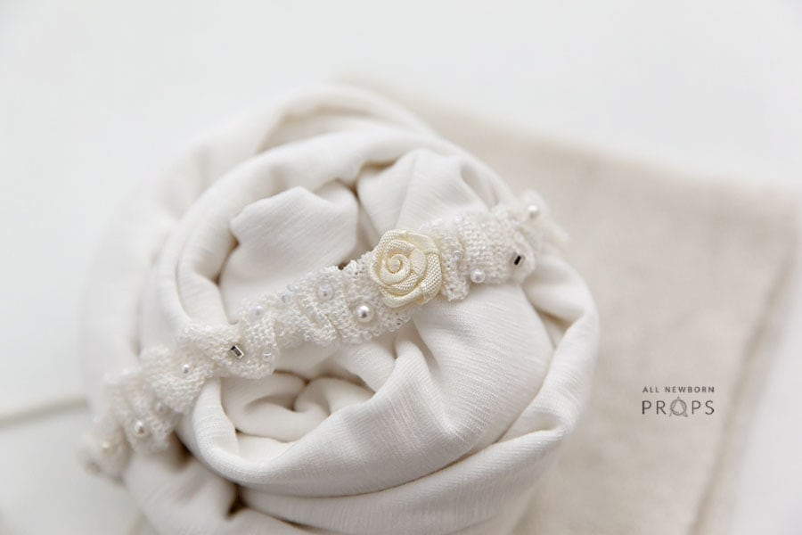 Baby-Photography-Accessories-set-girl-wrap-tie-back-headband-heart-white-europe