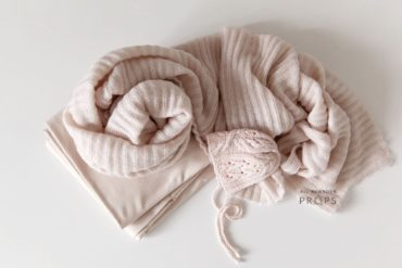 Newborn-Girl-Photo-Props-Set-pink-posing-fabric-wrap-bonnet-eu